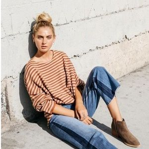 Grade & Gather Striped Crop Sweater